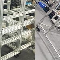 工业铝型材外框护栏设备机罩