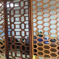 莆田热转印木纹铝花格订做仿古铝窗花供应商