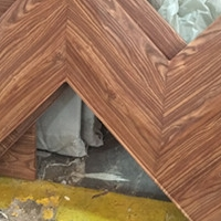 �a�_走道墙身木色铝单板 包梁铝单板