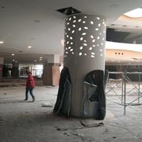 桂林弧形包柱铝单板幕墙  圆柱铝板订做厂家