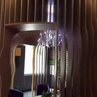 揚州藝術鋁方通訂做 弧形鋁方通吊頂天花