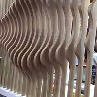 信阳异形铝方通天花 木纹弧形铝方通供应商