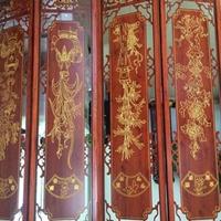 淮安仿古木纹铝窗花订做  中式铝窗花厂家