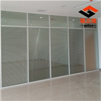 铝合金办公高阻遏双层玻璃带百叶阻遏墙