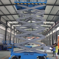 華安縣高空作業舉升機 18米升降機送貨