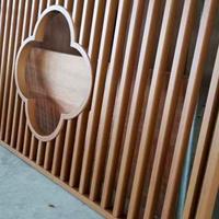 仿木紋中式鋁格柵新款元素裝飾