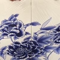 3D打印彩绘铝单板-定制青花瓷铝板