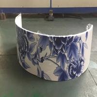 3D打印铝单板供应-彩绘圆弧铝单板