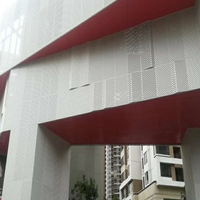 主题餐厅冲孔铝单板-造型冲孔铝单板
