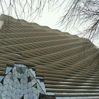 外墙弧形铝方通-艺术装饰