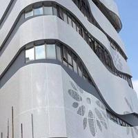 白色氟碳冲孔铝单板室内室外装饰工程专用