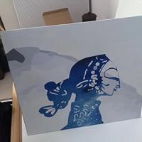 UV彩绘风景画人物画喷绘铝单板
