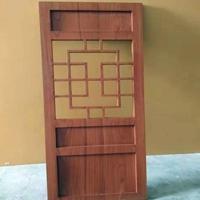 中式港式木纹仿古铝窗花厂家价格