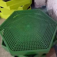 圆孔_六边形绿色铝单板_高低花色繁多厂家