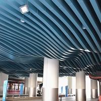 商场中庭异形铝方通-波纹弧形铝方通厂家