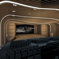 电影院弧形铝方通幕墙_造型铝方通吊顶