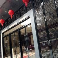 中式商业街装饰铝窗花格_仿古铝花格厂家