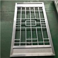 仿古铝合金窗花_木纹铝花格子_铝窗格厂家