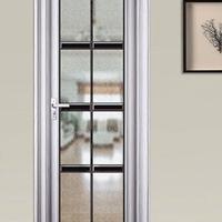 康洛斯门窗铝合金平开门钢化玻璃门可定制