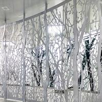 售楼部门头雕花铝单板效果显示