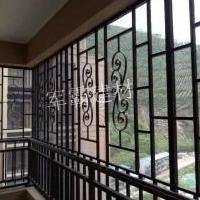 仿古木纹铝风、仿古木纹铝窗花、铝护手栏杆