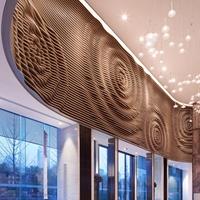 商场弧形吊顶弧形方通外墙装饰产品