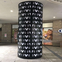 商场包柱铝单板 弧形包柱铝单板