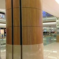 柱子装饰包柱铝单板-木纹圆弧板
