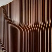 商城幕墙造型铝方通_造型弧形铝方通