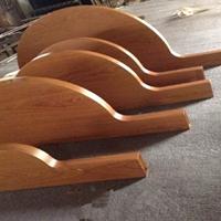 室内装饰弧形木纹铝方通_装饰木纹造型方通
