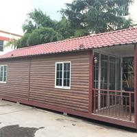 景区防火景观活动房耐腐蚀保温隔热板房