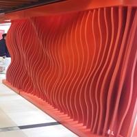 墙身装饰异形弧形铝方通定制