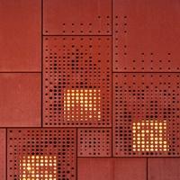 商業街外墻裝飾穿孔鋁單板-價格