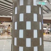 商场拼色包柱铝单板 大小孔透光包柱铝板