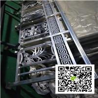 长廊铝屏风-木纹铝窗花厂家