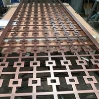 廠家直銷定做歐式紅古銅鋁板鏤空屏風
