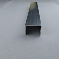 玻璃固定滑槽轨道铝槽U型铝条内槽铝