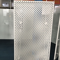 10mm冲圆孔透气阻燃铝方板6001200