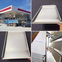 高速路服务区加油站白色包柱铝单板