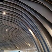 弧形铝方通背景墙_波浪造型弧形厂家