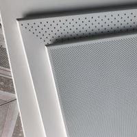 销售600冲孔保温铝天花板 铝天花板吊顶热