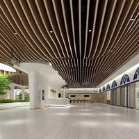 商场吊顶弧形铝方通-波浪形铝方通厂家