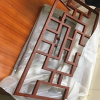 木色铝窗花营造时尚装饰新风格