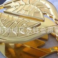 铝艺雕刻花纹金色拉手