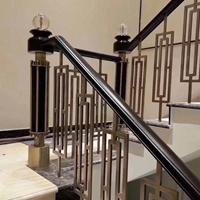 厂家直销铝艺镂空楼梯护栏 仿古楼梯护栏