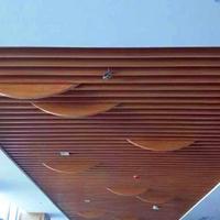 弧形木纹不规则铝方通_幕墙木纹弧形方通