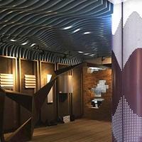 餐厅弧形铝方通天花-波纹型铝方通定制厂家