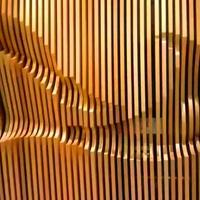 室内装饰木纹弧形铝方通_幕墙不规则氟碳