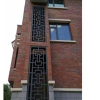 武术馆外墙装饰铝格栅屏风厂家