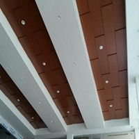 广汽本田4S店室内吊顶木纹铝单板供应